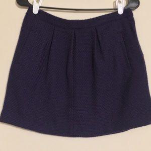 GAP Gap Navy Wool Knit Mini Skirt with pockets